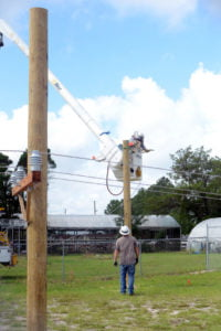 Dunnellon High School pole yard